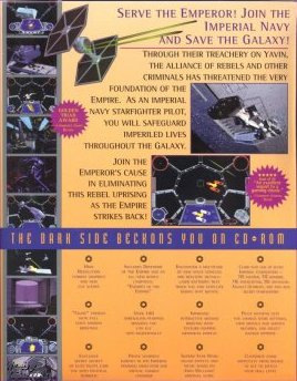 TIE Fighter Collector's CD-ROM Back Cover