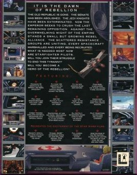 X-Wing Collector's CD-ROM Back Cover