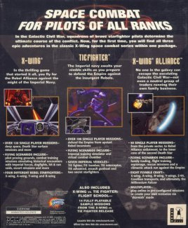 X-Wing Trilogy Back Cover